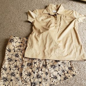 Golf set skirt and top